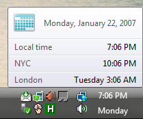 Windows Vista Tip: Multiple clocks