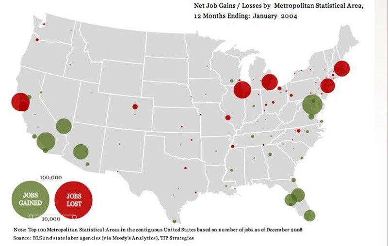 Employment Maps from the Economic Apocalypse