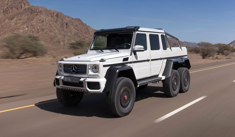 Here Is The Outrageous Mercedes G63 AMG 6x6 In All Its Six-Wheeled Glory