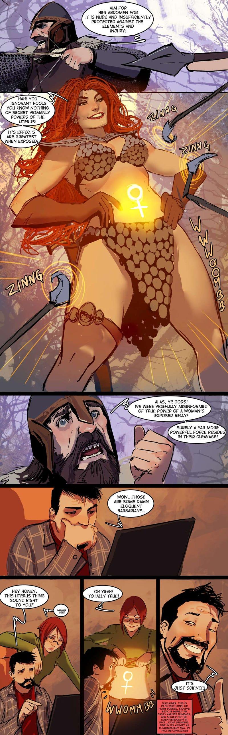 The real reason that women in fantasy art wear such skimpy armor