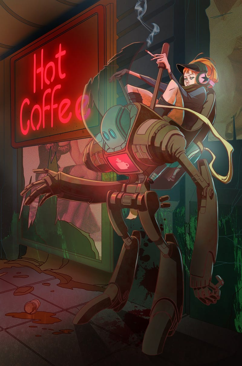 Concept Art Writing Prompt: The Robot Barista