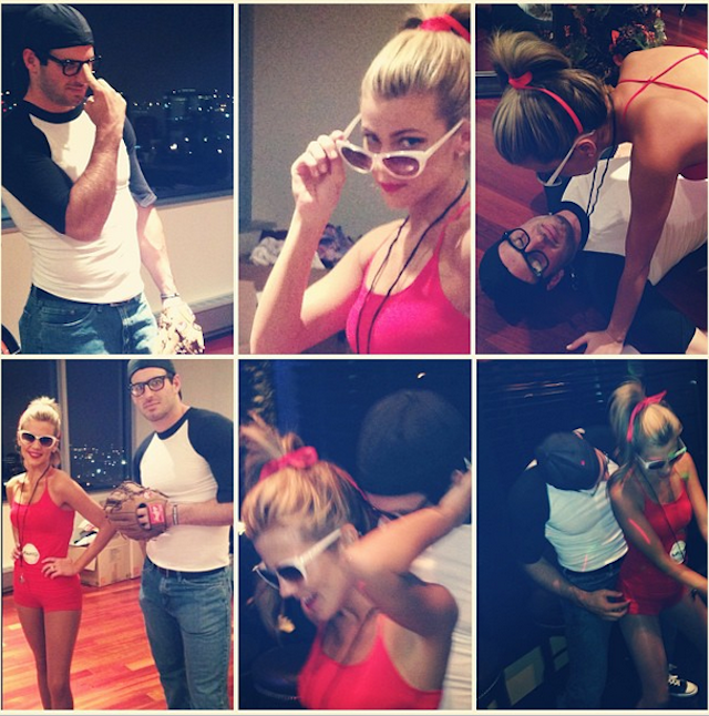 Samantha And Christian Ponder Dressed Up As The Sandlot Characters