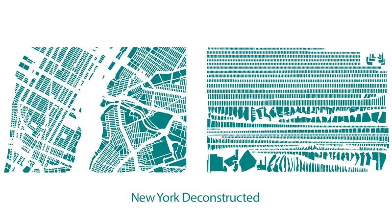 New York City's Blocks Arranged by Size