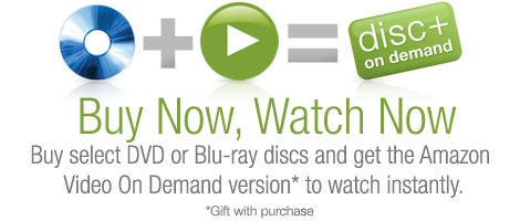 Amazon Disc+ on Demand: Buy a DVD or Blu-ray Movie, Stream It Instantly
