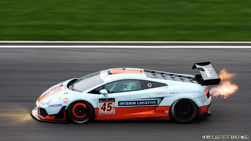 Your ridiculously cool Gulf Oil Lamborghini wallpaper is here