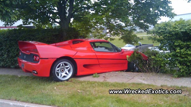FBI totals Ferrari in joyriding crash, stonewall insurance company