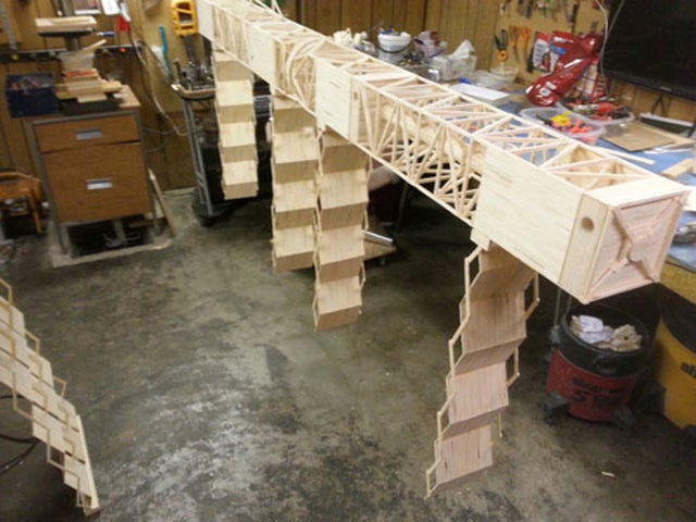Man makes giant 13.4-foot-long space station with 282,000 matchsticks