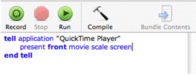 Go full screen with Quicktime