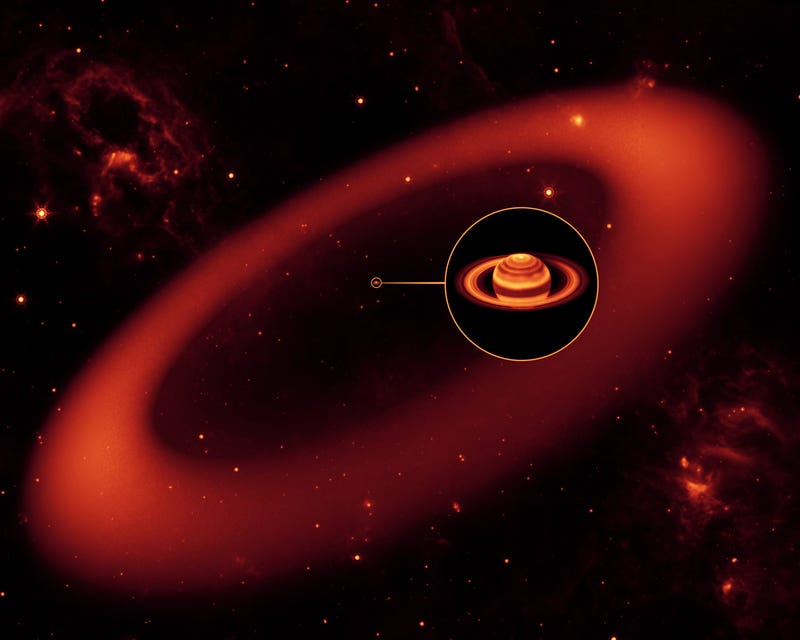 New Gigantic, Glowing Saturn Ring Discovered