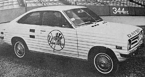 Really Short Commute: Yankees Datsun Bullpen Car!