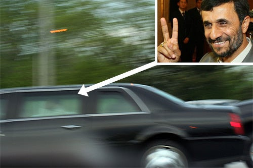 Ahmadinejad Touches Down at JFK