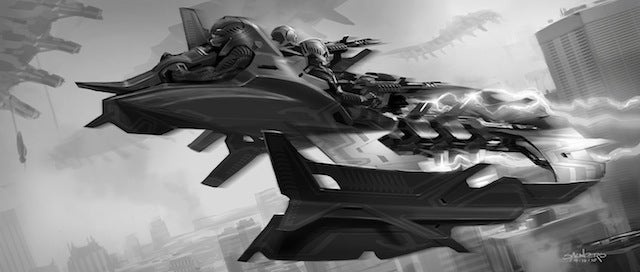 The Avengers' Leviathan warships could have been more H.R. Giger-esque
