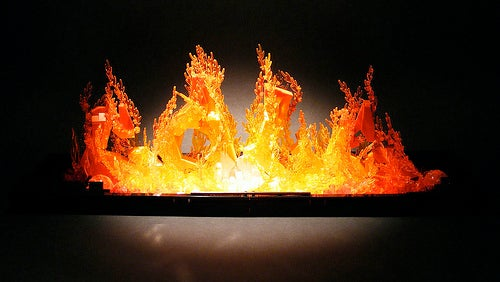 Lego Flames Spell Out Creator's Name and Actually Looks On Fire