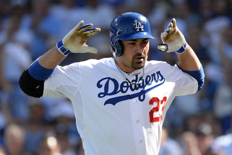 Adrian Gonzalez Makes Mickey Mouse Ears After Homering