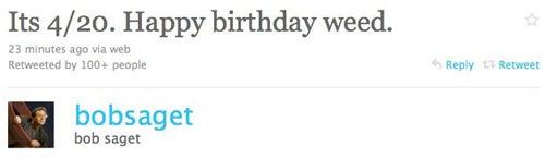 Celebrities Celebrate 4/20 On Twitter