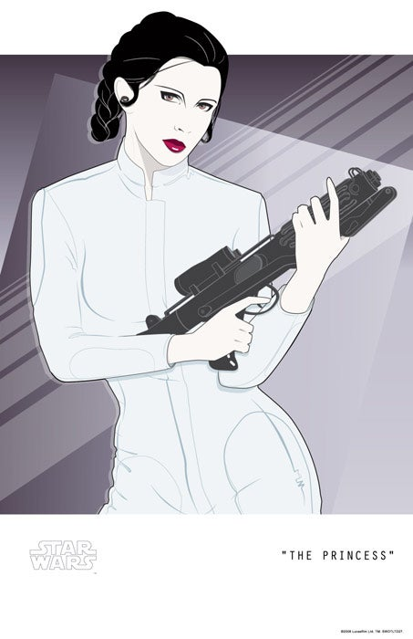 "Crazy 1980s ""New Wave"" Princess Leia Poster"