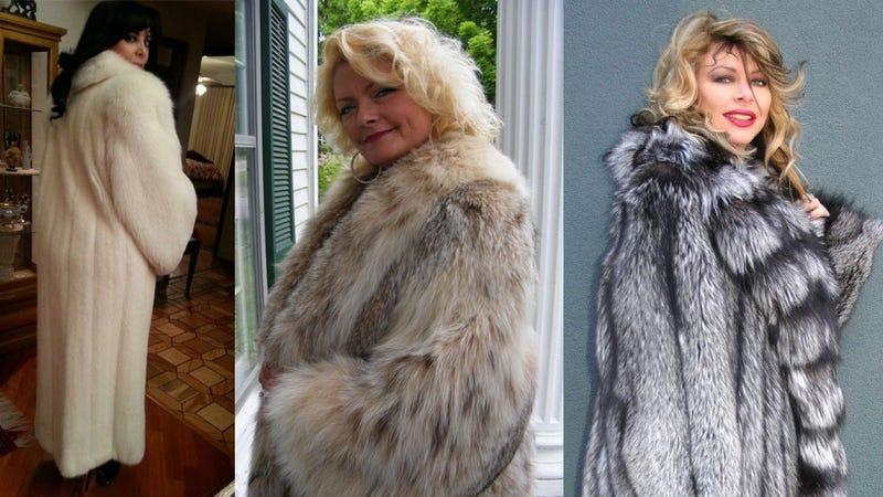 Women Modeling Fur Coats on eBay