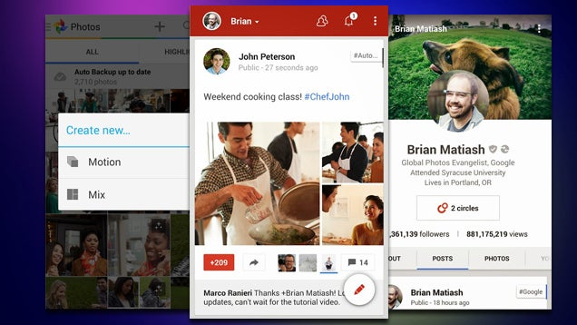 Google+ Gets a New UI, Better Photo Library and Auto Awesome Support