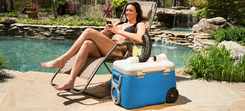 Fill This Cooler With Icy Water and It Doubles As an Air Conditioner