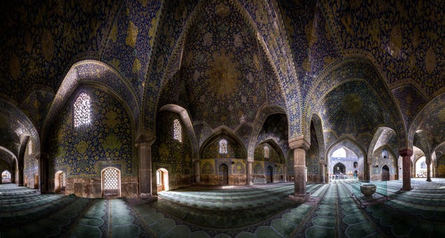 Extreme wide angle photos turn mosques into beautiful kaleidoscopes