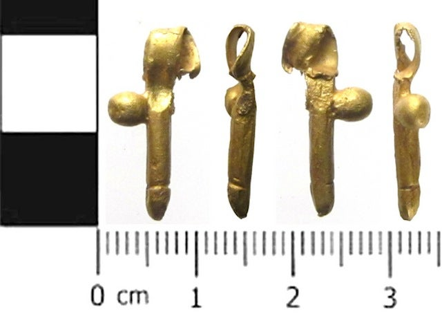 Ancient Romans carved winged penises to ward off the evil eye