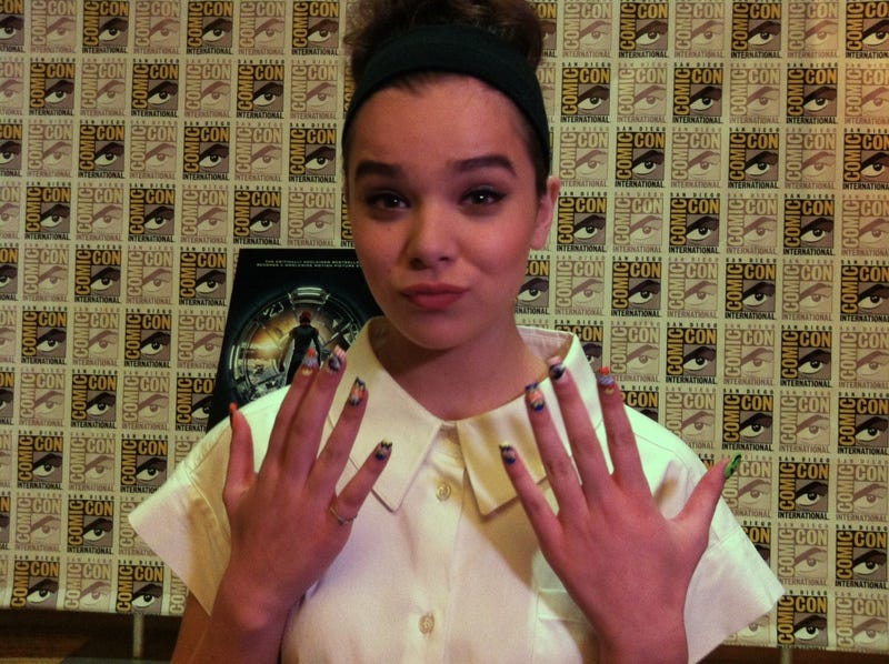 Hailee Steinfeld's nerdy nail art just made our day