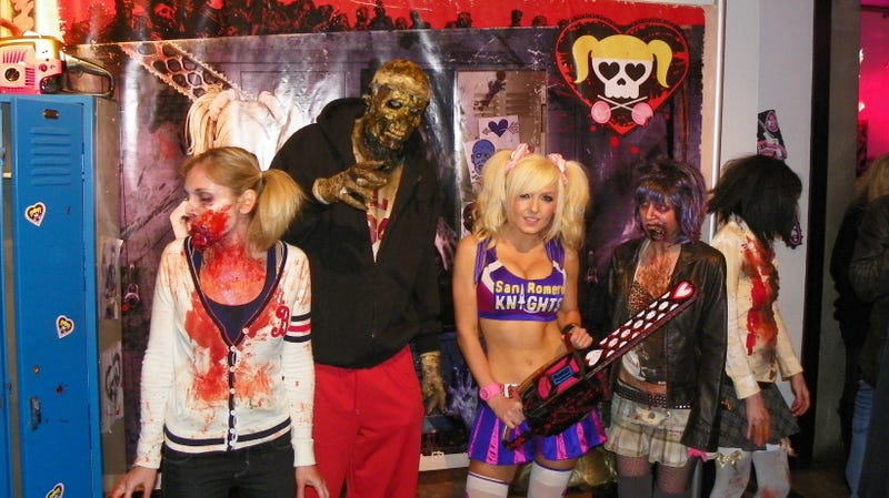 Here's Lollipop Chainsaw's' Cheerleader Heroine and Zombies in the Rotting Flesh