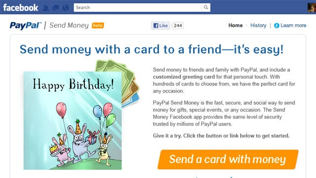 PayPal Debuts a Facebook App for Sending Money Between Friends