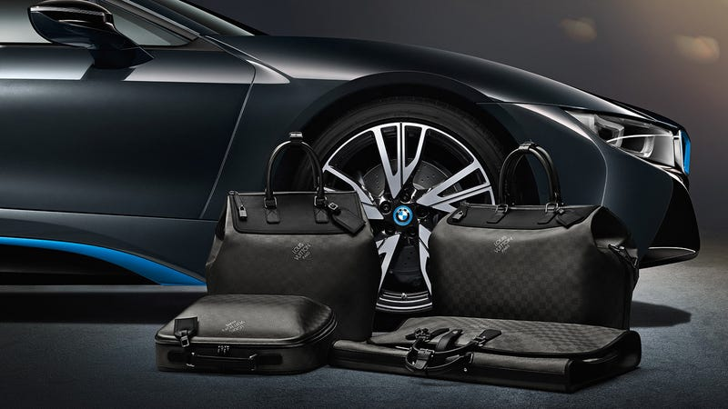 BMW i8's Custom Louis Vuitton Luggage Costs $20k