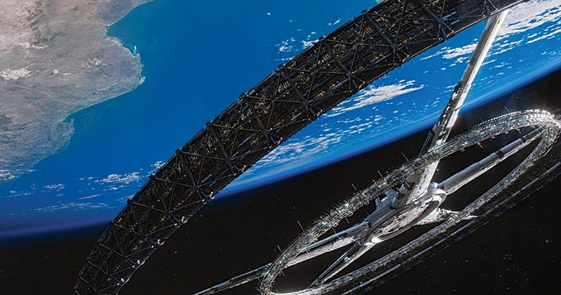 Could you really have a space colony like the one in Elysium?