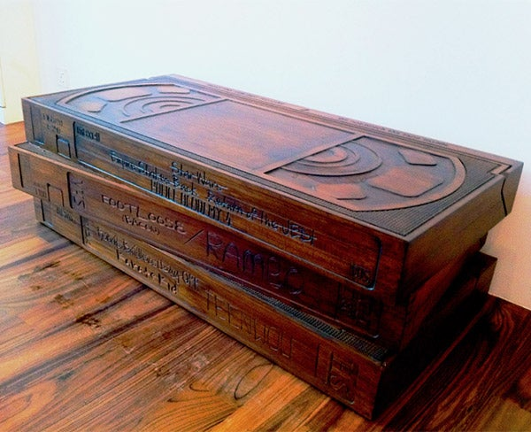 The Rest of Your Furniture Only Wishes It Could Be as Awesome as This VHS Coffee Table