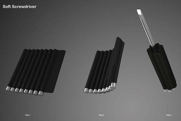 A Concept Screwdriver Case Smartly Transforms Into the Screwdriver Itself