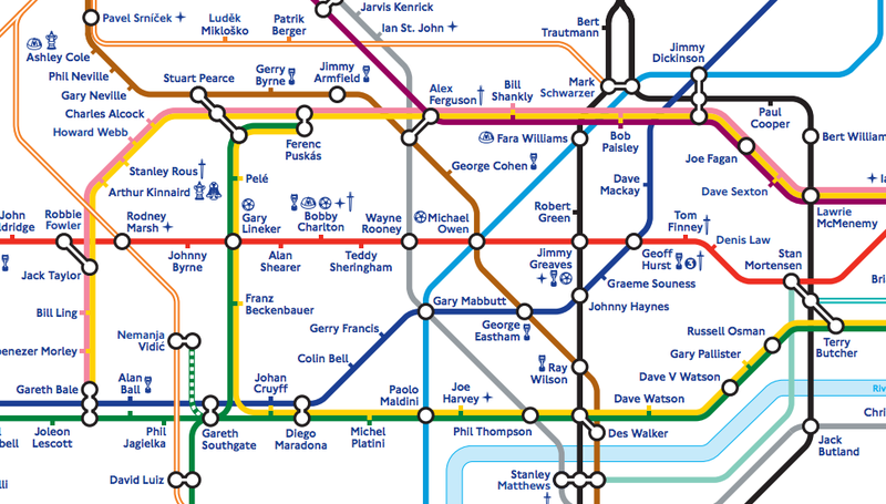 London Tube Map Redrawn With Footballer Names; England Rejoices