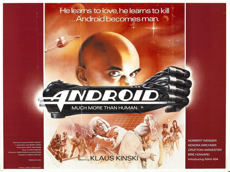 In Android, Klaus Kinski wants to build a sexbot...in space!