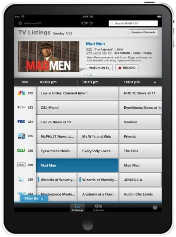 Comcast's Awesome Xfinity TV Remote iPad App Is Available Now