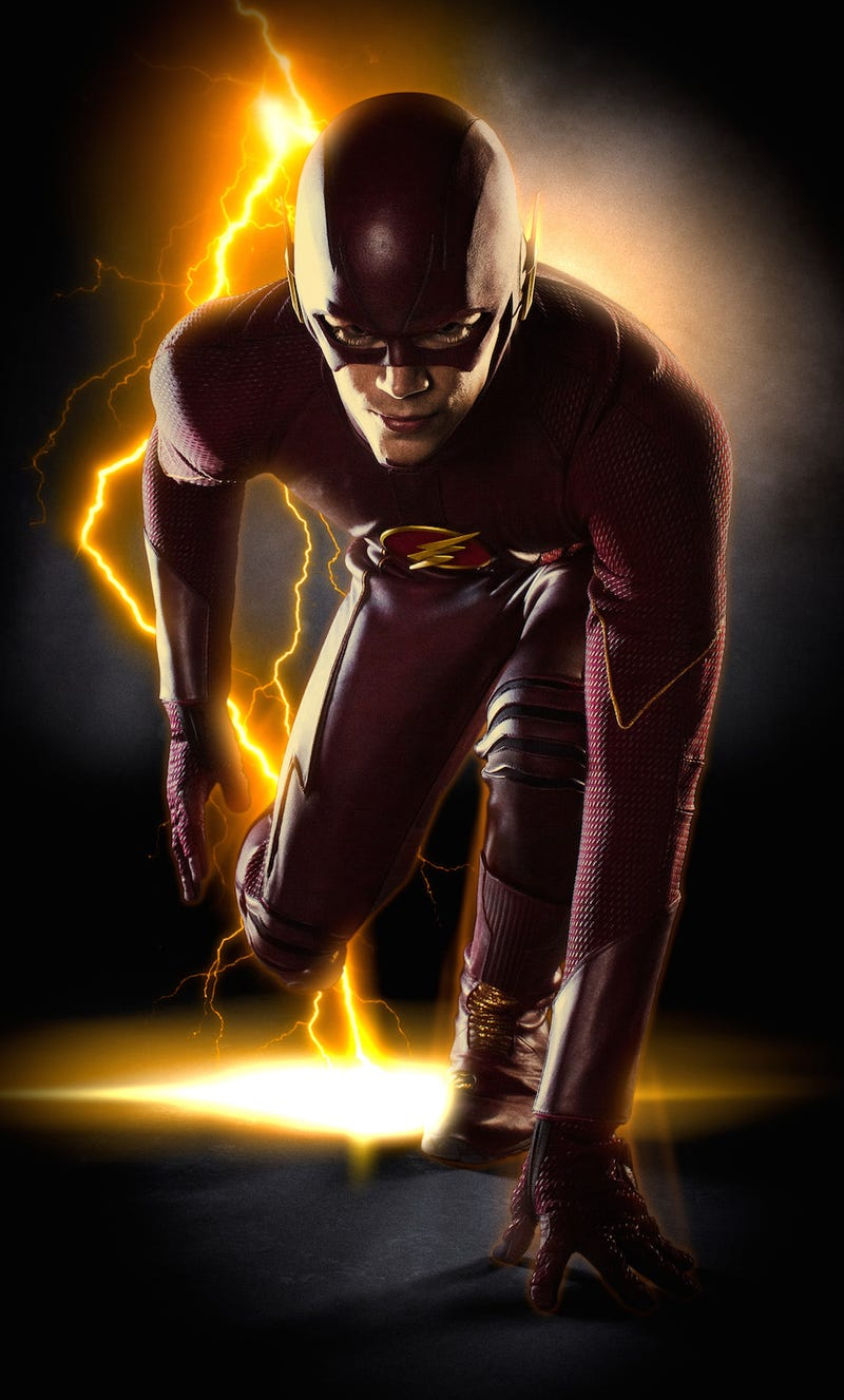 Here is the new TV Flash in all his scarlet glory