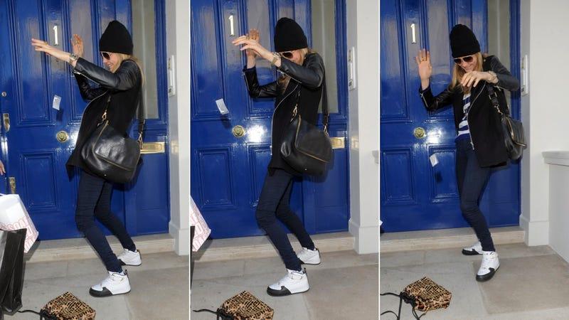 """Weeeeee!"" Sings Alleged Coke Bag as It Soars Out of Model's Purse"