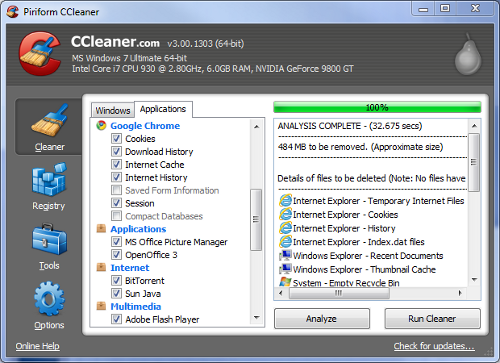 CCleaner Releases Version 3.0, Adds Secure Drive Wiping and Other Improvements