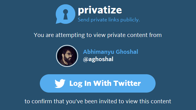Privatize Tweets Links That Only Users You Mention Can Open