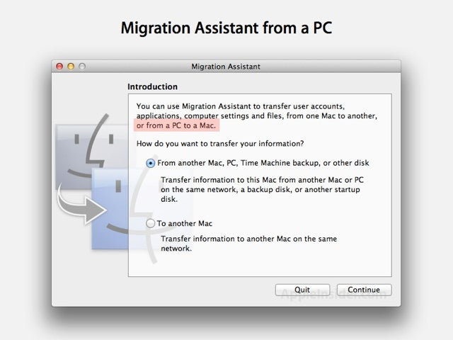 Mac OS X Lion Migration Assistant Update Makes PC to Mac Move a Bit Easier