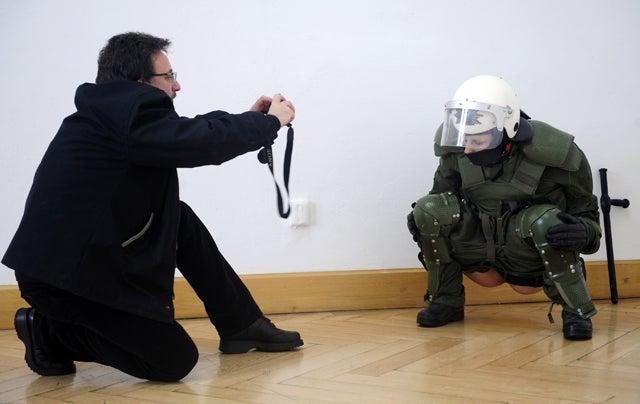 Peeing Policewoman Sculpture Pisses Off German Cops