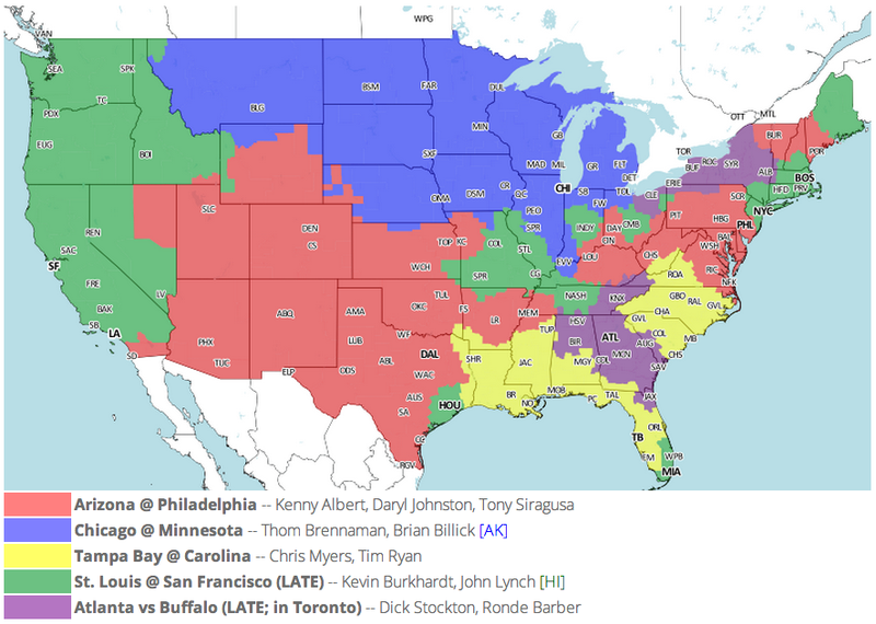 Which TV Market's Getting Screwed Today? Your Week 13 NFL Viewing Maps