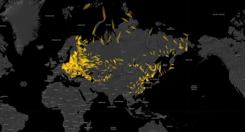 A Terrifying Interactive Map Visualizes the Devastation of Nuclear Fallout