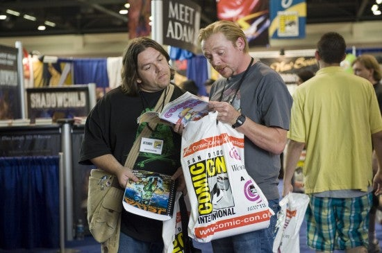 First glimpse of the massive reconstruction of Comic Con in Simon Pegg's Paul