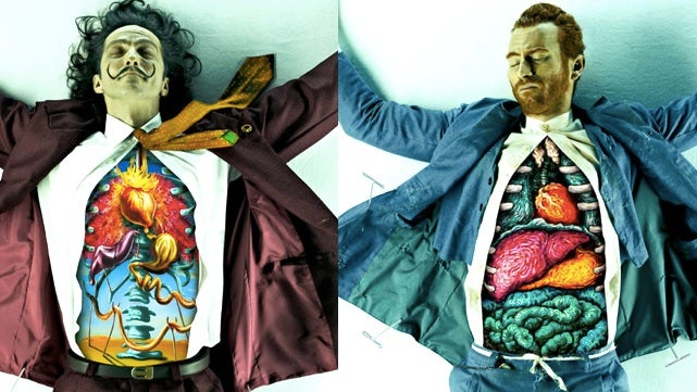 Oh look, the dissected organs of Salvador Dalí, Vincent Van Gogh, and Pablo Picasso