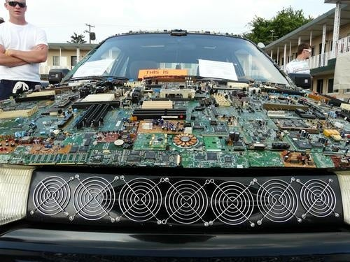 Circuit-Covered Cruiser Looks Like A Computer Vomited