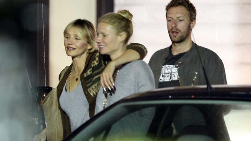 Cameron Diaz Totally Cockblocks Chris Martin, Lucky Him