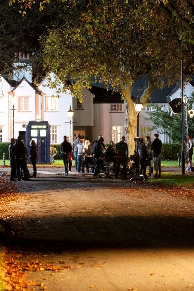 Set photos from the Doctor Who Christmas special
