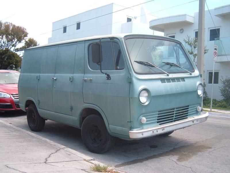 Forward-Control Vans Down On The Key West Street
