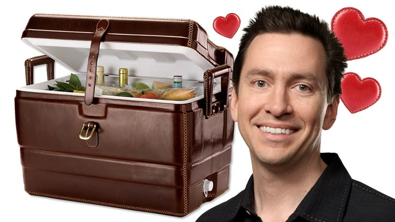 Leather Clad Cooler Turns Tailgate Parties Into Picnics at Downton Abbey